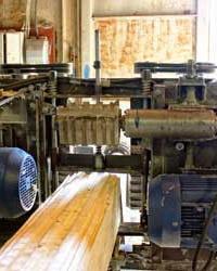 Станок для производства профилированного бруса