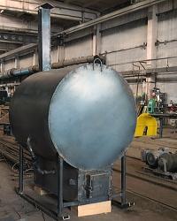 Маленькая углевыжигательная печь для производства древесного угля