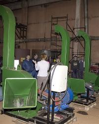 Роторная рубительная машина РРМ-5 для измельчения щепы