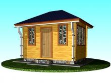 Проект деревянной беседки