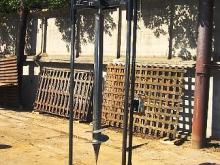 Установка для монтажа винтовых свай