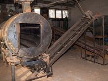 Сушилка щепы с транспортерами и бункерами