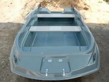 Пластиковая лодка морские сани уффа фокса с рундуками
