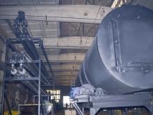 Ротационная пиролизная печь для сжигания отходов
