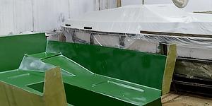 Катер из пластика в производсте