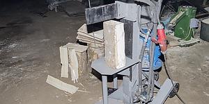 Универсальный гидравлический станок-дровокол для производства гонта
